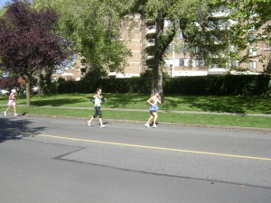 Running the 2010 Goodlife Fitness Victoria Marathon