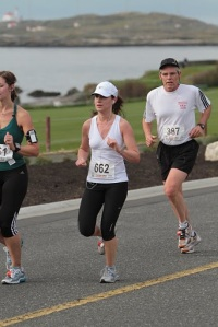 Me running the Oak Bay Half