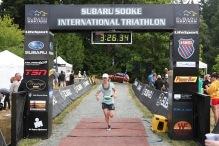 Me finishing the Sooke Tri last year!