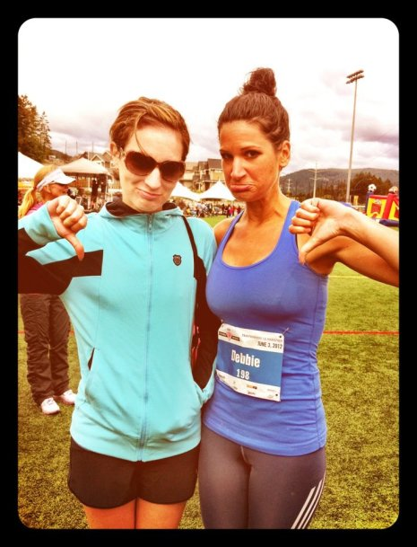 Not getting PBs at the Victoria Goddess run in June, one of the only other races I did in 2012!