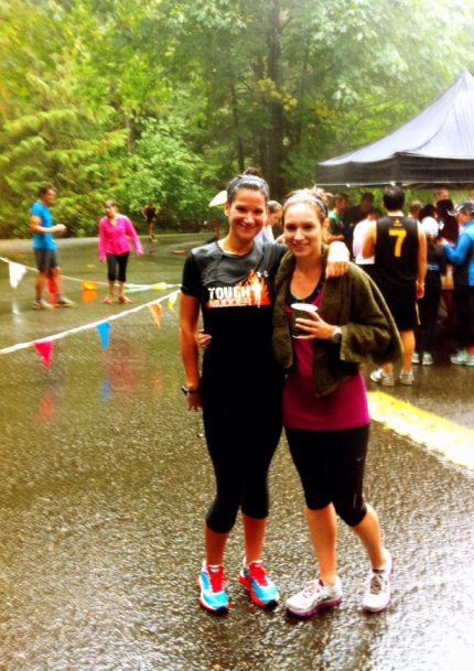 At the Goldstream Park Salmon Run 5k in October... wettest run ever!