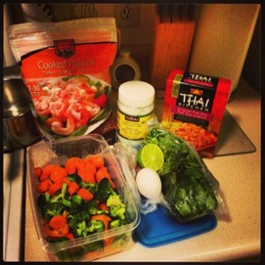 The makings of a good dinner!