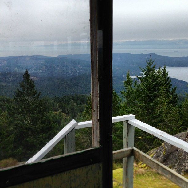 View from inside the fire tower.
